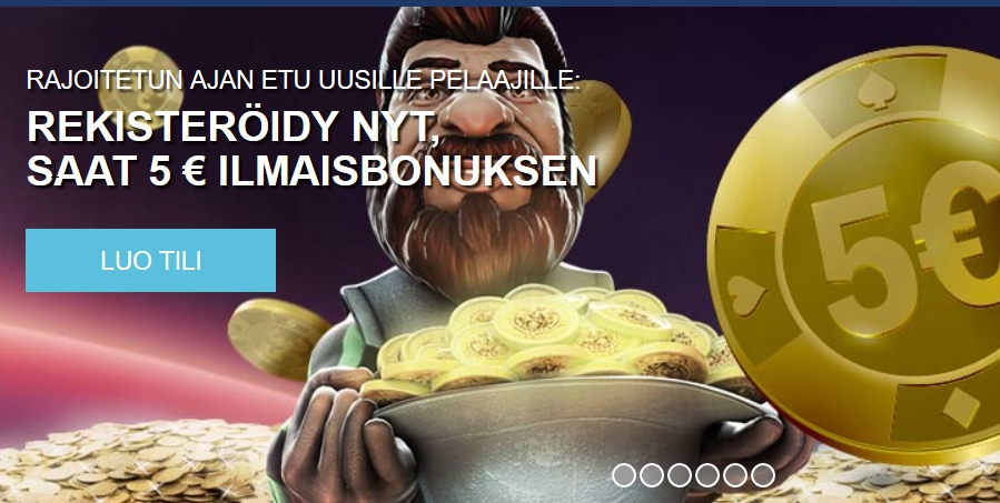 Hae 5€ ilmaista pelirahaa Finlandia Casinolta juuri nyt!